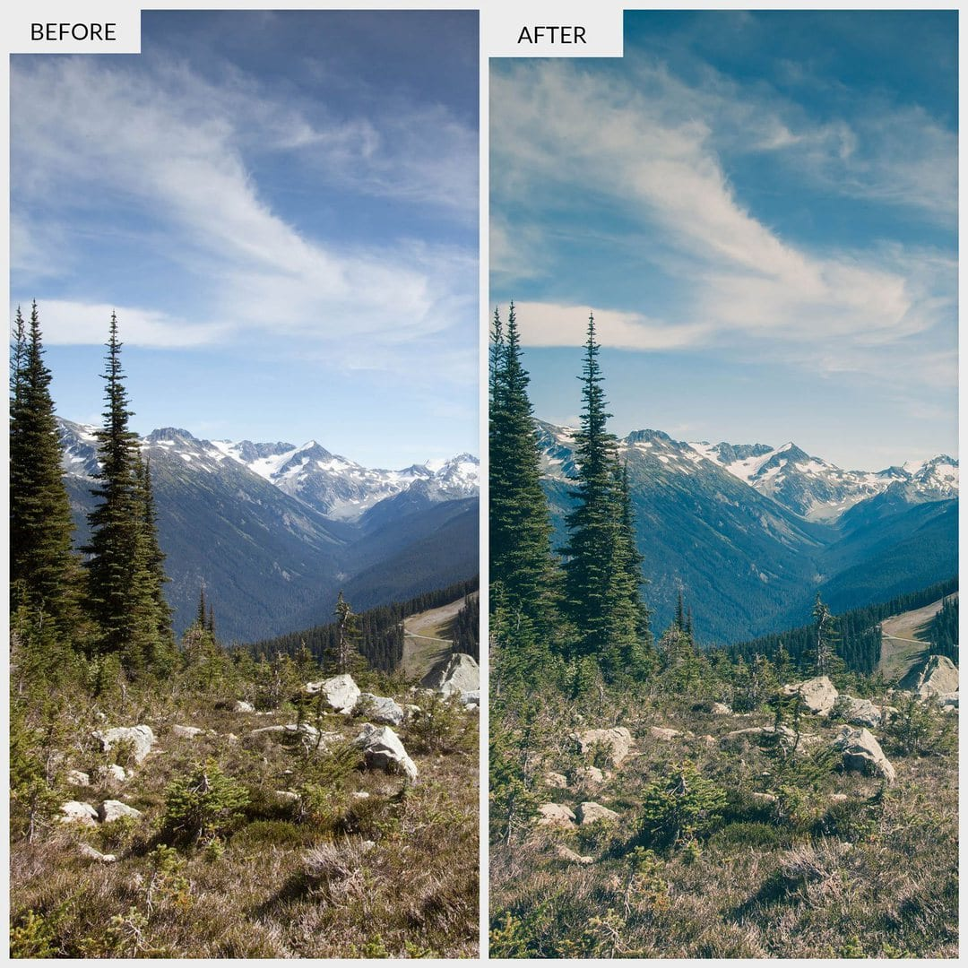 Free-Lightroom-Preset-Mountain-Before-and-After