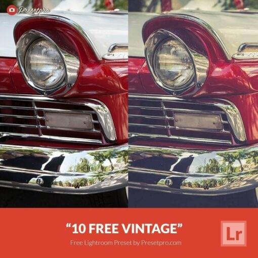 10 Free Vintage Lightroom Presets