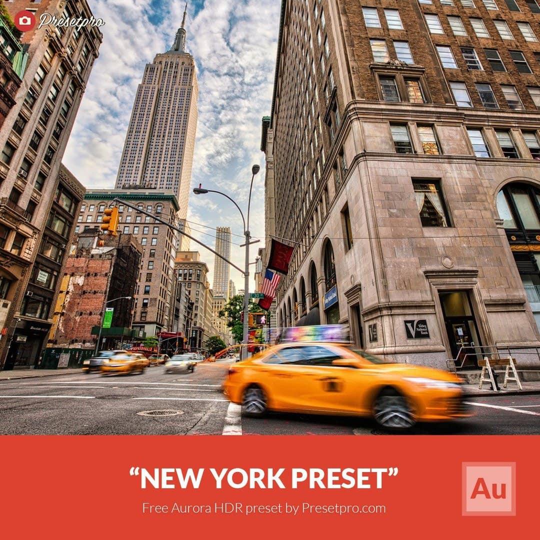 free aurora hdr preset new york