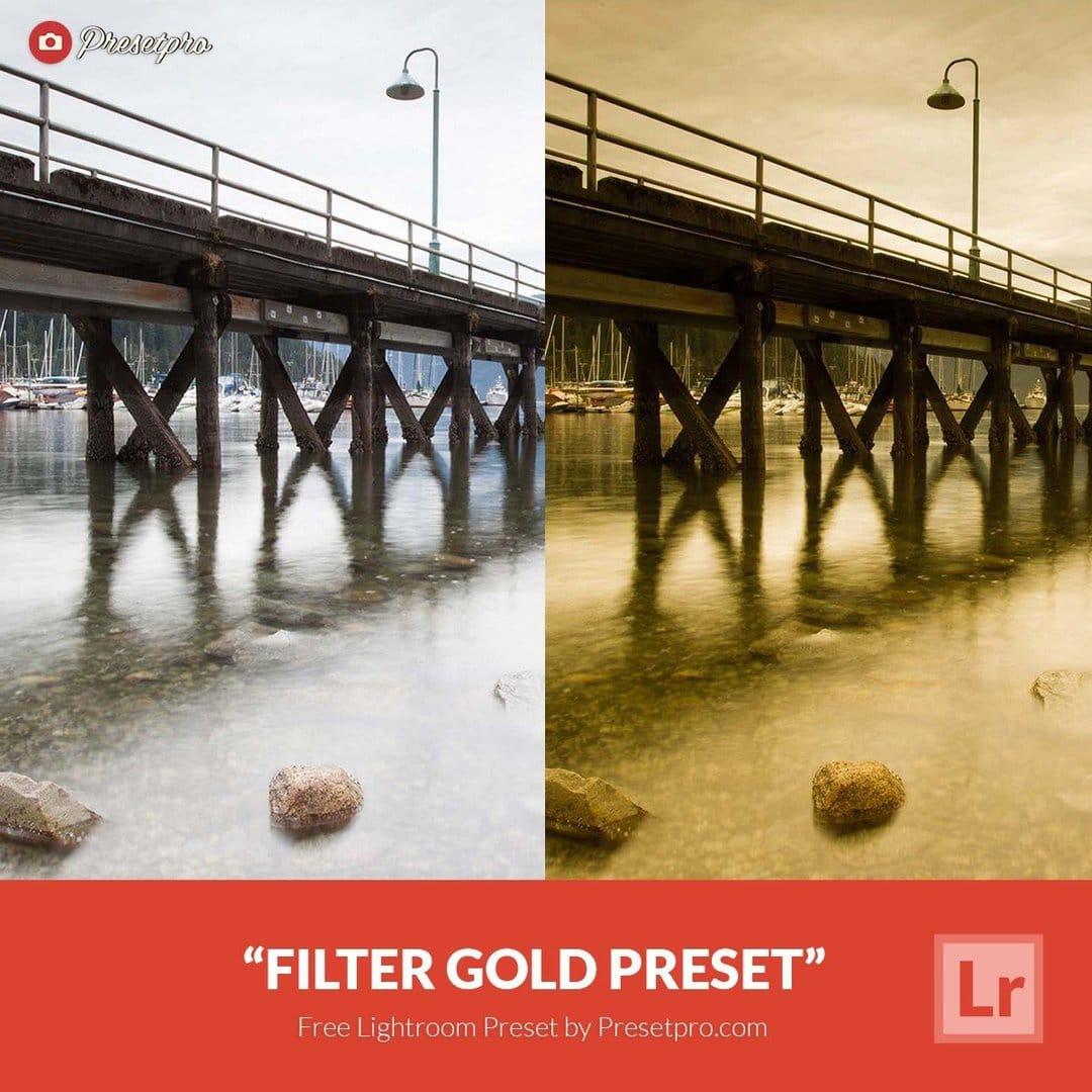 free lightroom preset filter gold download now