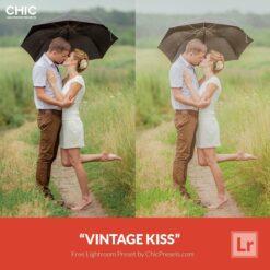 Free Lightroom Preset Vintage Kiss