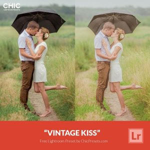 Free Lightroom Preset Vintage Kiss