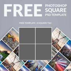 free-photoshop-template-photo-collage-square