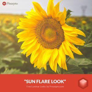 Free Luminar Look Sun Flare Preset Presetpro.com and Freepresets.com