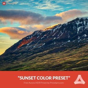 Free-Aurora-HDR-Preset-Sunset-Color Presetpro