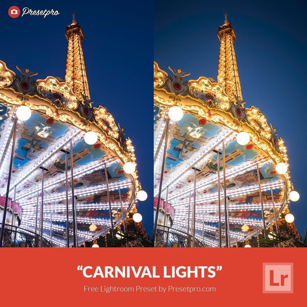 free lightroom preset carnival lights download now