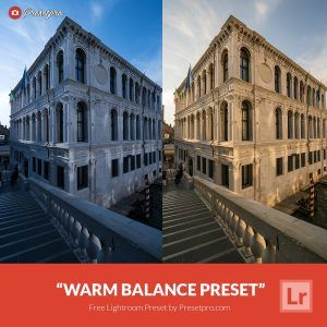 "Free Lightroom Preset ""Warm Balance"""