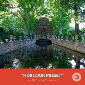 "Free On1 Preset ""HDR Look"""