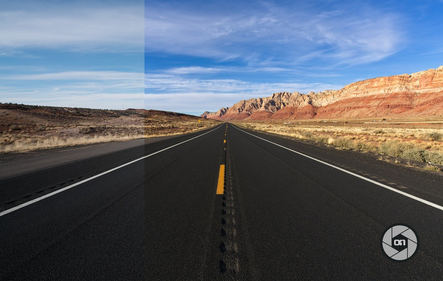 Free-On1-Preset-Open-Road-Before-and-After