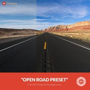 "Free On1 Preset ""Open Road"""