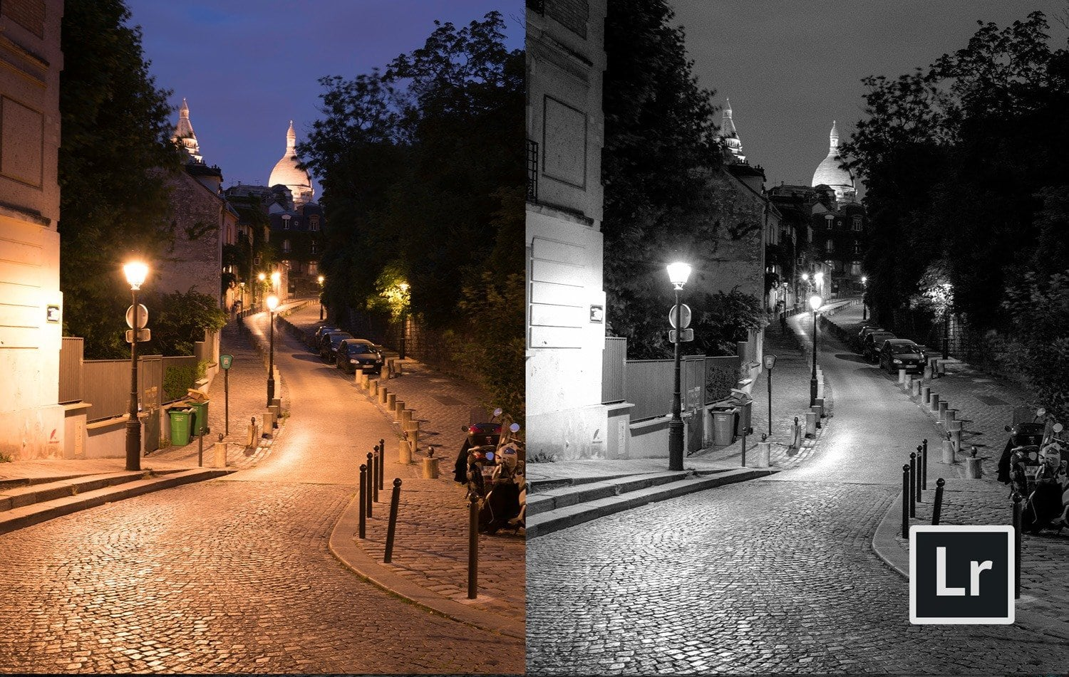 Free-Lightroom-Preset-Noir-Nights-Before-and-After-Cover