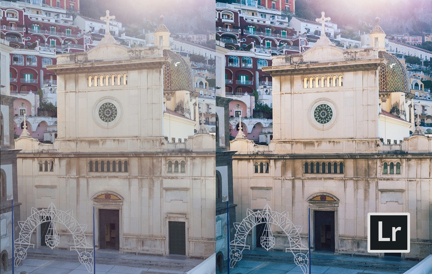 "Free Lightroom Preset ""Travel Cam"" Before and After"