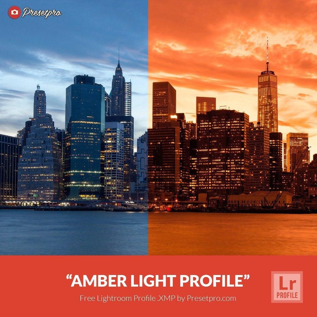 Free Lightroom Profiles Amber Light  XMP Download