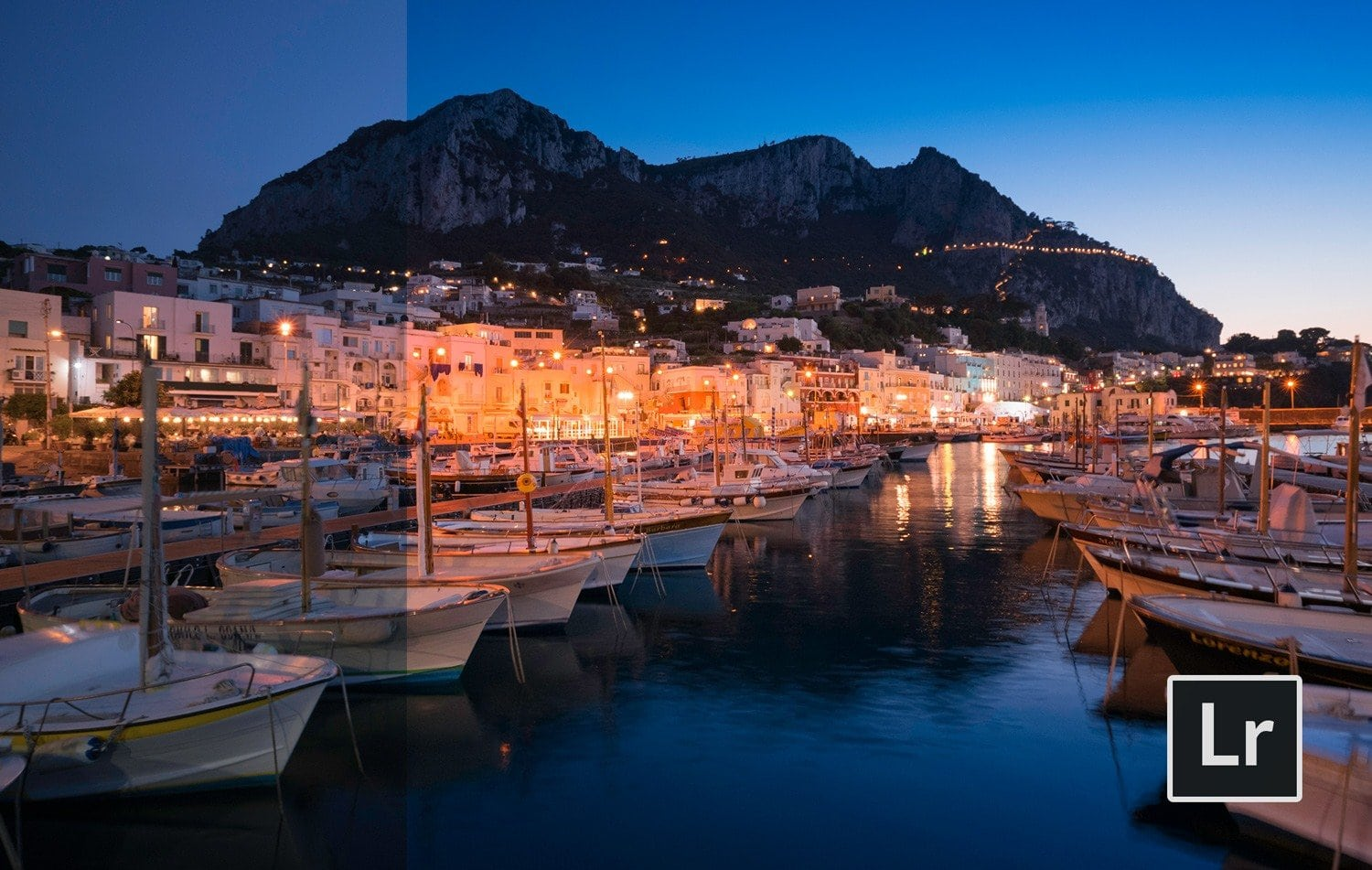Free-Lightroom-Preset-Capri-Night-Before-and-After