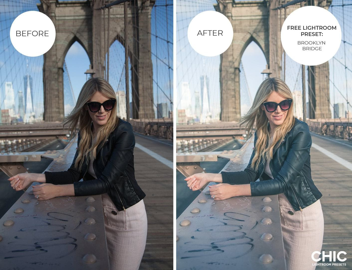 Free Lightroom Preset Brooklyn Bridge