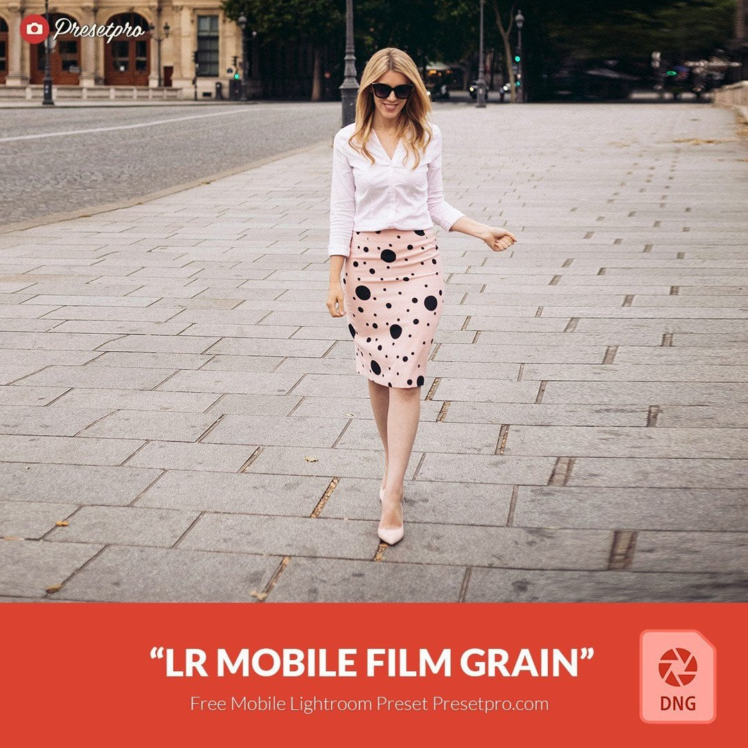 Free Mobile DNG Preset for Lightroom | Film Grain