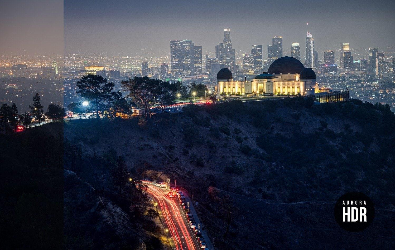 Free Aurora HDR Look LA Nights Preset Before After Presetpro.com