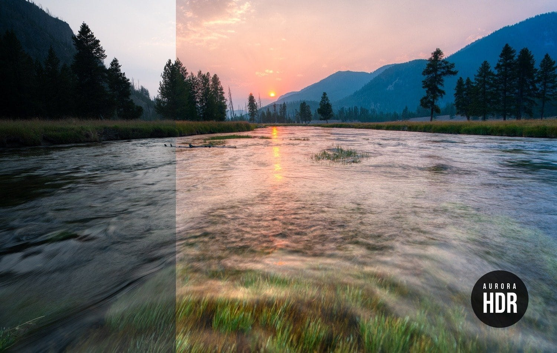 Free Aurora HDR Look River Sunset Preset Presetpro.com