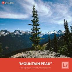 Free Lightroom Preset | Mountain Peak