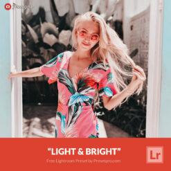 Free Lightroom Preset | Light and Bright