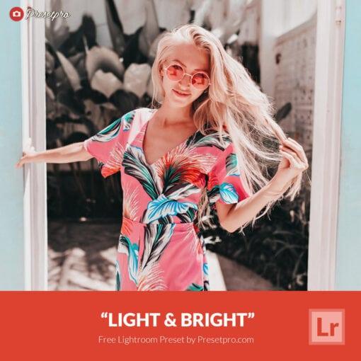 Free Lightroom Preset   Light and Bright