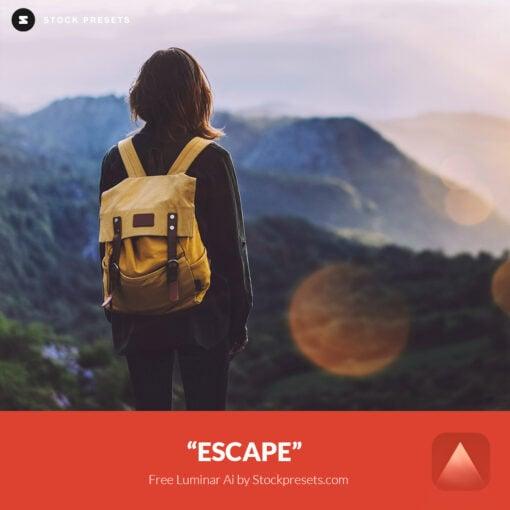 Free Luminar Ai Template Escape Preset Stockpresets.com