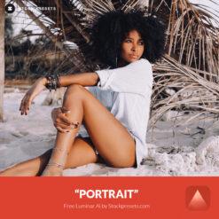 Free Luminar Ai Template Portrait Preset Stockpresets.com