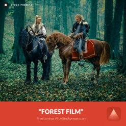 Free LUM Ai Template Forest Film Preset Stockpresets.com