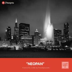 Free LUT Neopan Film Lookup Table Presetpro.com