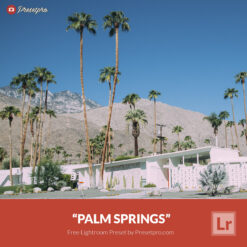 Free Lightroom Preset Palm Springs Presetpro.com