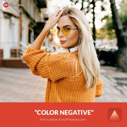 Free Luminar Ai Template Color Negative Preset Presetpro.com