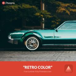 Free Luminar Ai Template Retro Color Preset Presetpro.com