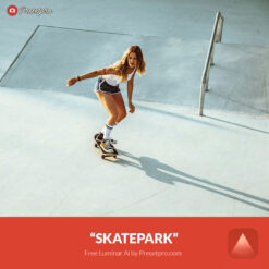 Free Luminar Ai Template Skatepark Preset Presetpro.com