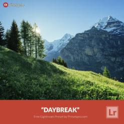Free Lightroom Preset Daybreak Presetpro.com