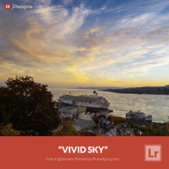 Free Lightroom Landscape Preset Vivid Sky Presetpro.com